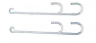 Кистедержатель с двойным крючком пластиковый