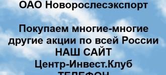 Покупка акций ОАО Новорослесэкспорт